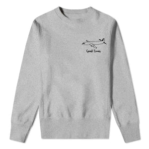 Good Times Plane - Mens Grey Sweatshirt