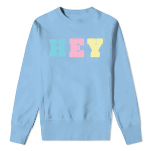 HEY - Kids Blue Sweatshirt