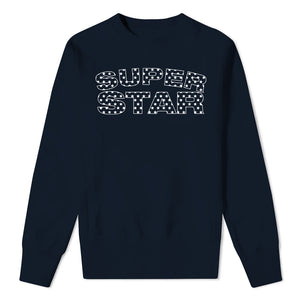 SUPER STAR - Kids Navy Sweatshirt