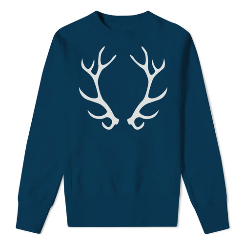Antlers - Christmas Navy Sweat