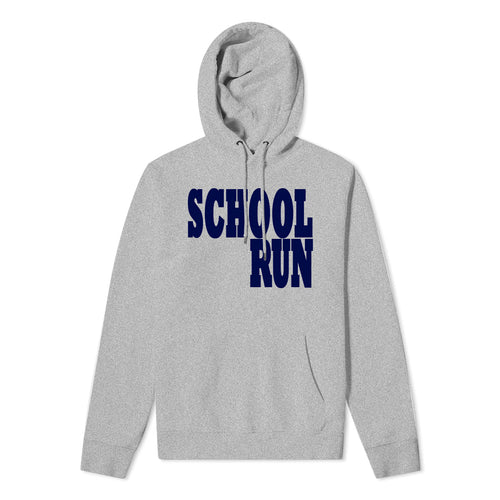 Mens School Run - Grey hoodie