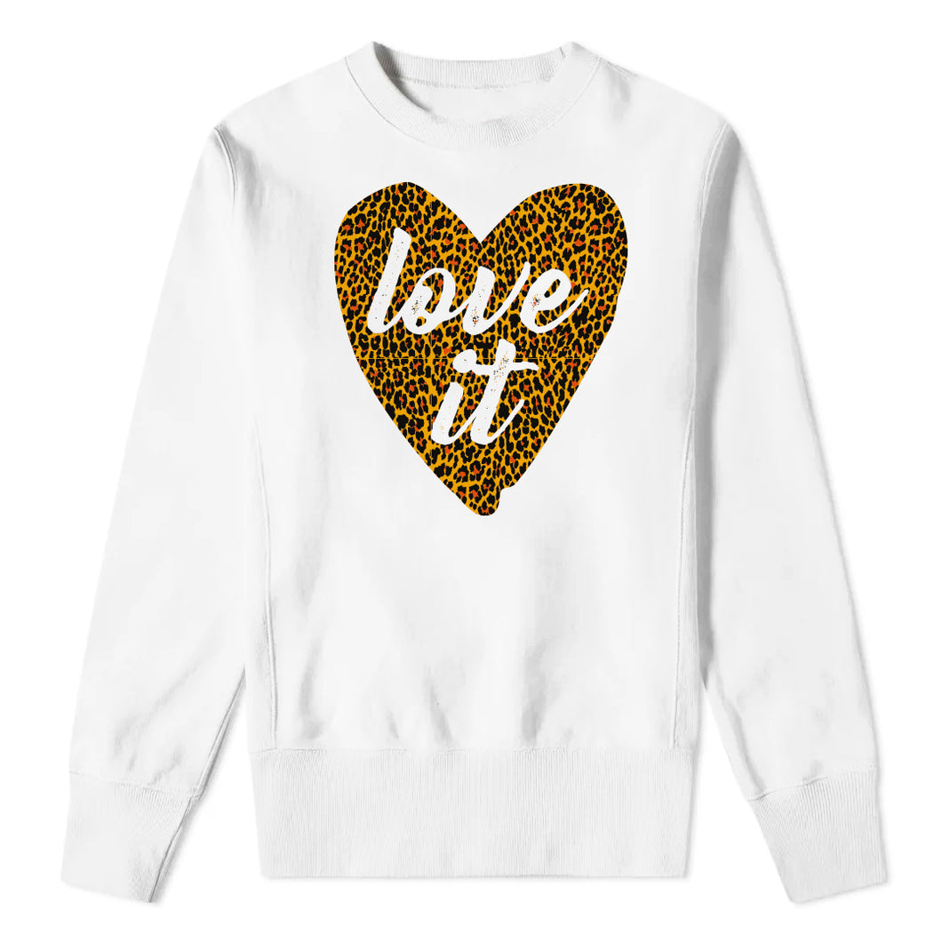 LOVE IT LEOPARD - White Sweatshirt