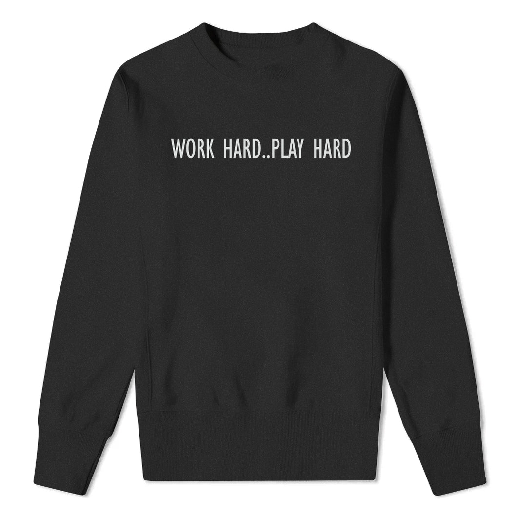 Work Hard..Play Hard - Kids Black Sweatshirt