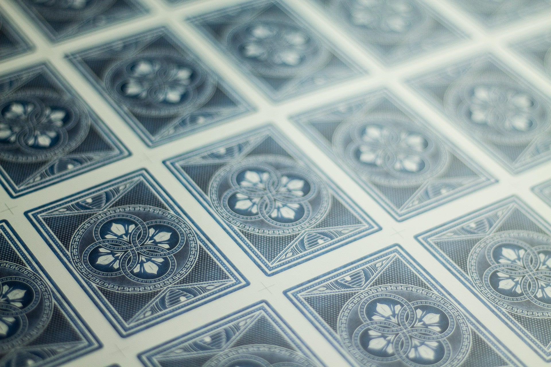 BLUE, Limited Edition HIVE playing card uncut sheet