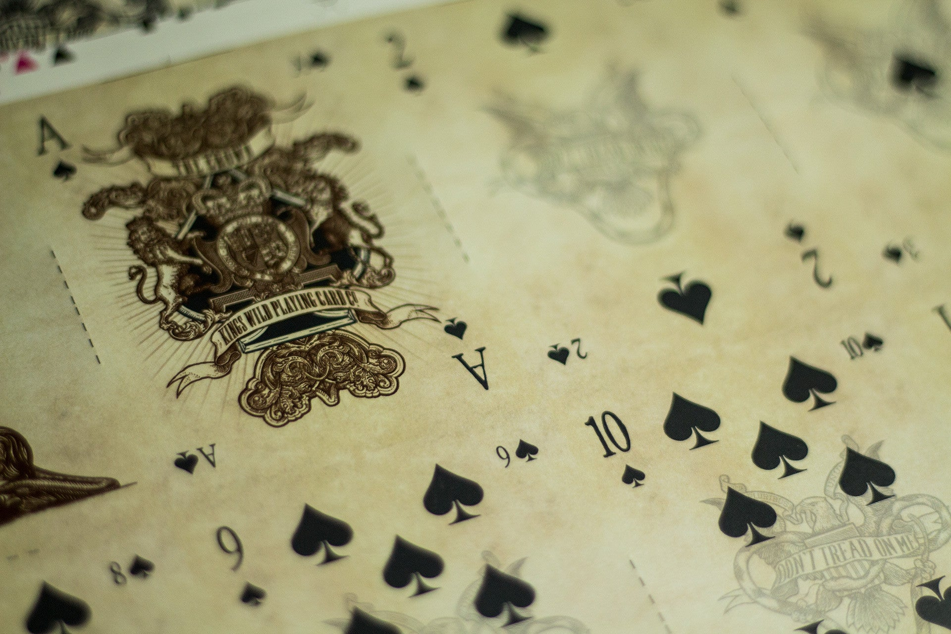 Limited Edition Crown Uncut Playing Card Sheet