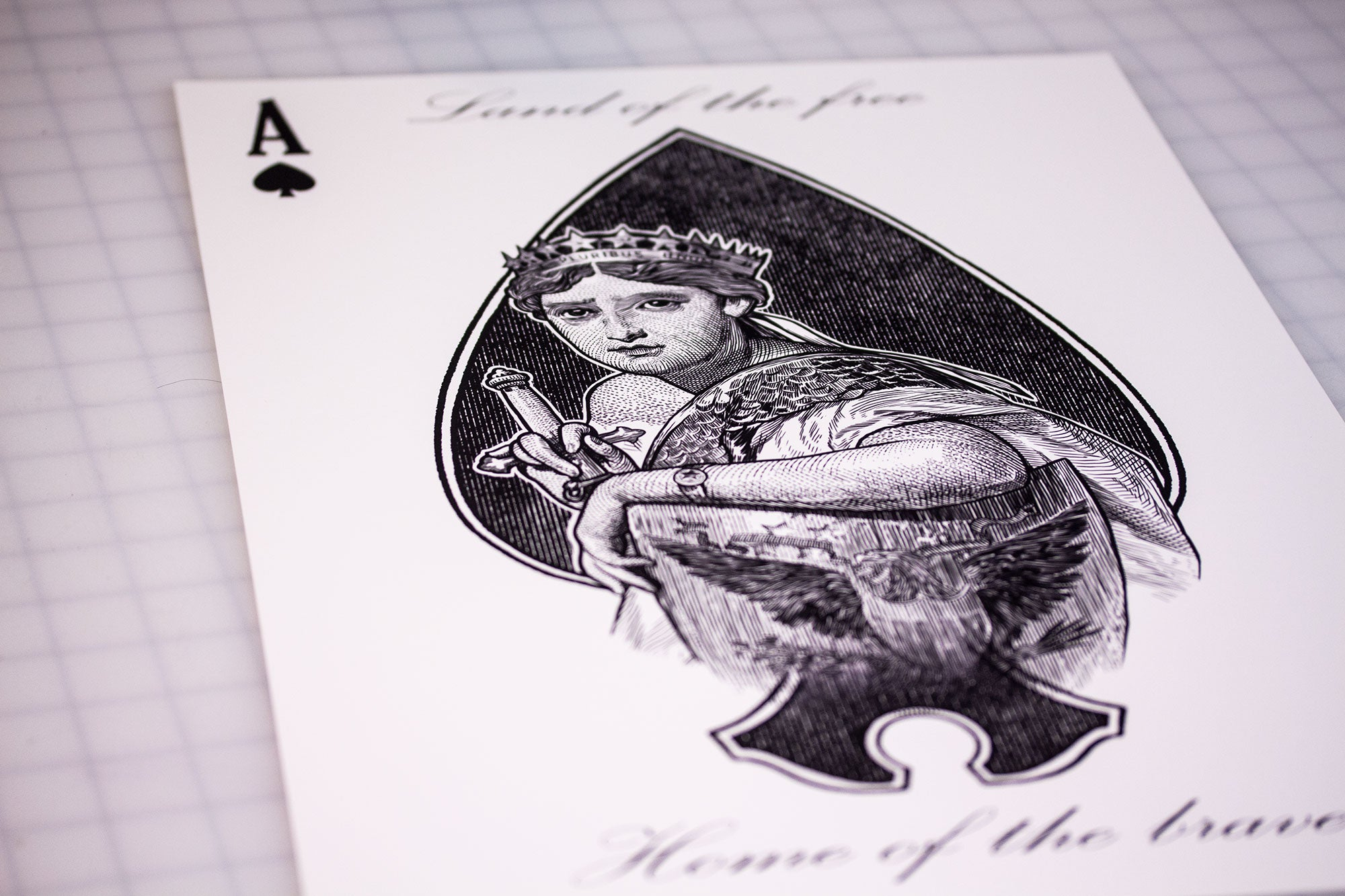 Limited Edition - Kings Wild Americana, Ace of Spades print.