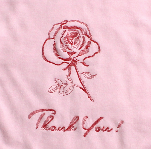Thank You Rose Crew Neck Sweatshirt