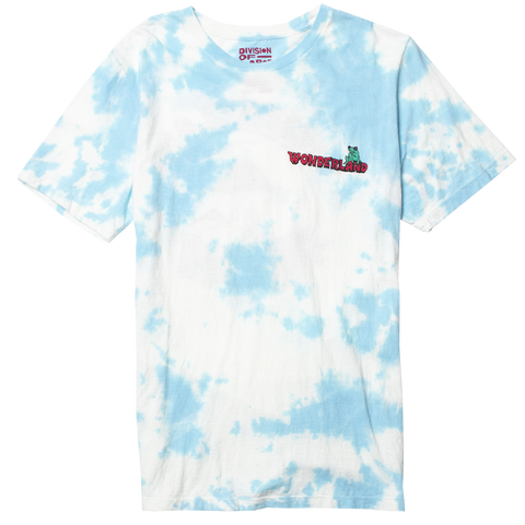 WONDERLAND cloud tie dye technique graphic tee