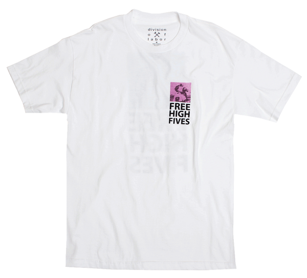 DOL Free High Fives front Mens Tee