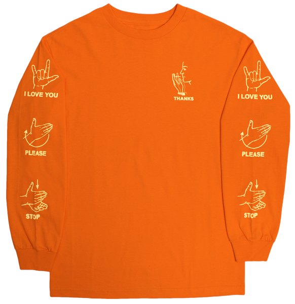 Sign Language Long Sleeve Tee