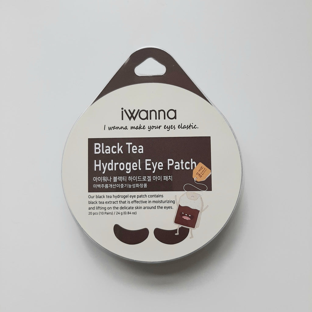 Iwanna Black Tea Hydrogel Eye Patch