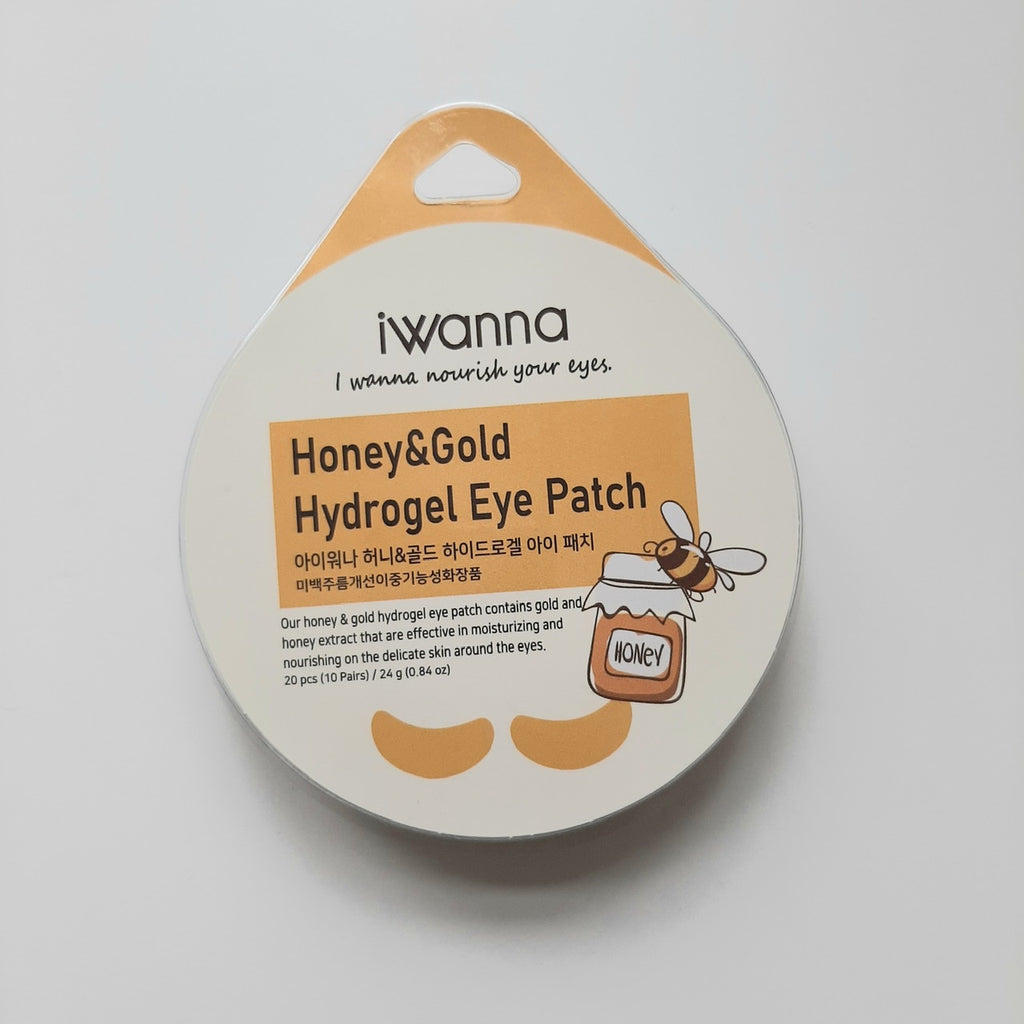 Iwanna Hydrogel Honey and Gold Eye Patch