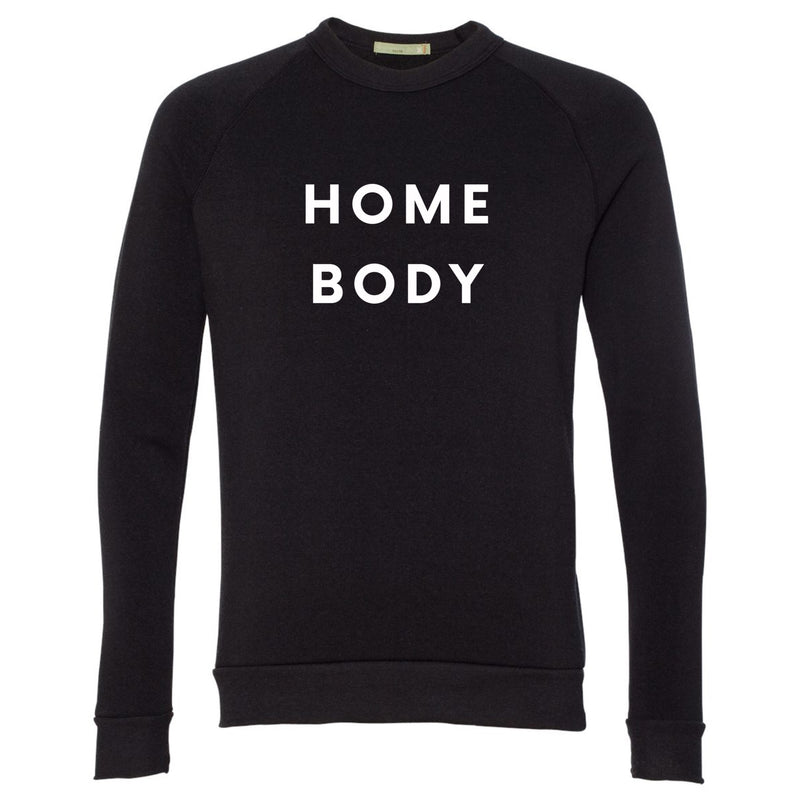 Home Body Sweatshirt, Black - Yellowcake Shop