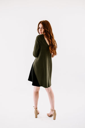 Triple Notched Swing Dress