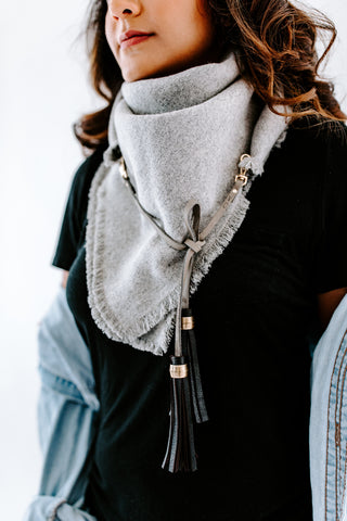 Triangle Scarf- Denim