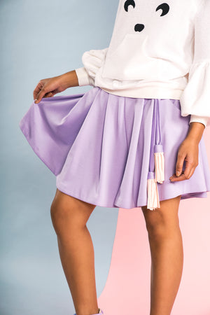 Lavender Pleated culottes