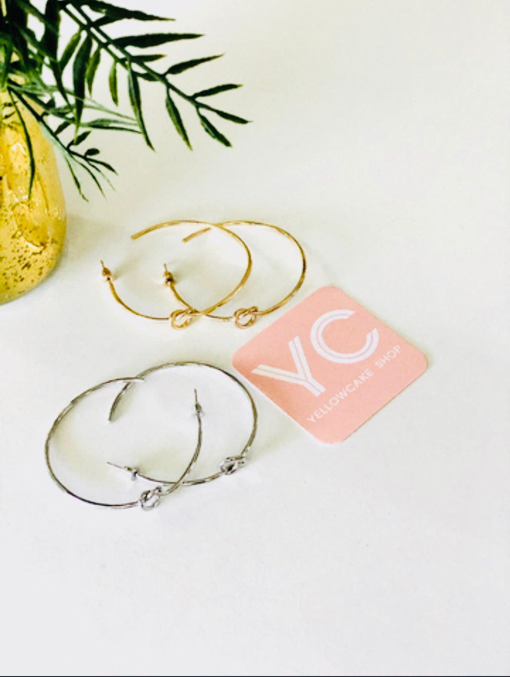 Thin Knot Hoops - Yellowcake Shop