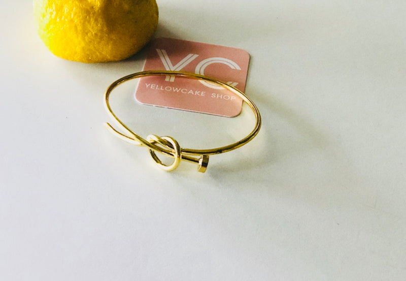 Gold Knot Nail Bracelet - Yellowcake Shop