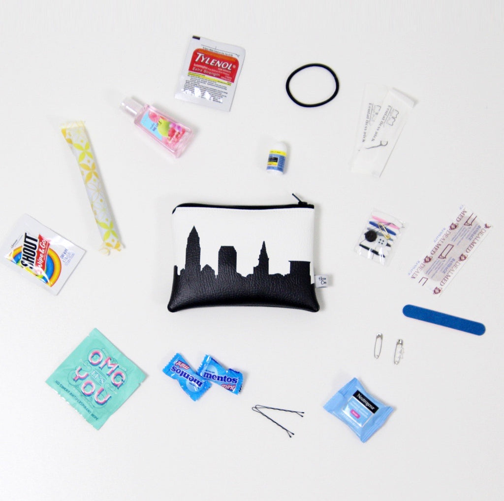 Anne Cate Vegan Leather Emergency Kit