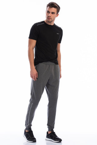 Men's Side Stripe Grey Sweatpants.