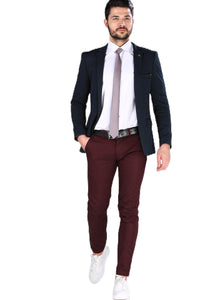 Men's Claret Red Trousers