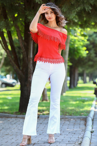 Women's Basic White Trousers - Fashion Under Arrest