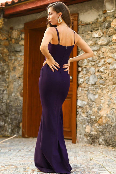 Women's Fish Model Purple Evening Dress - Fashion Under Arrest