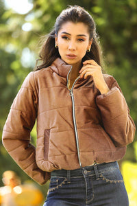 Women's Brown Velvet Coat