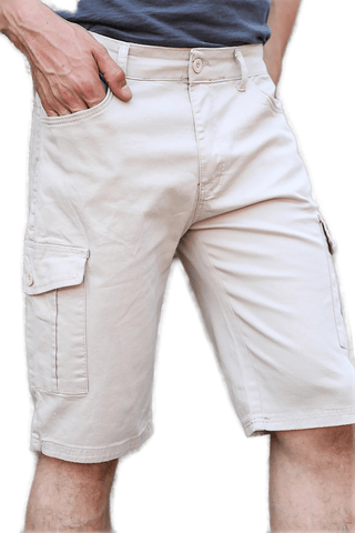 Men's Beige Cargo Shorts - Fashion Under Arrest