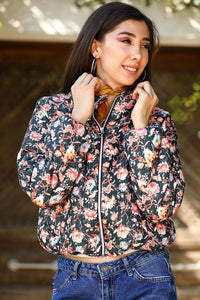 Women's Patterned Blown Coat