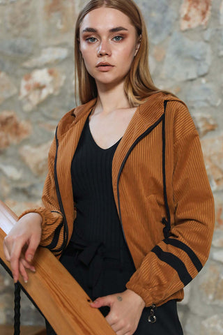 Women's Brown  Velvet Jacket - Fashion Under Arrest