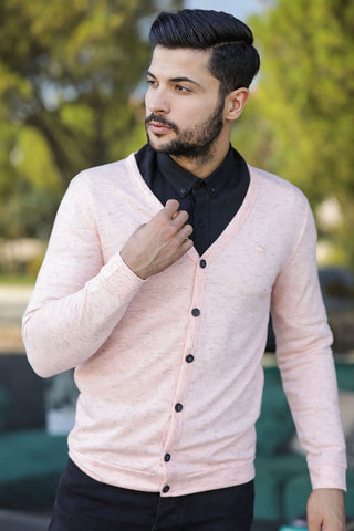 Men's Powder Rose Cardigan - Fashion Under Arrest