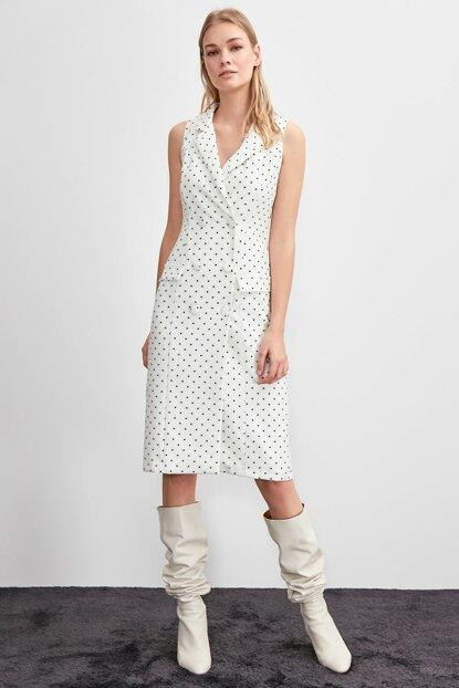 Women's Polka-Dot Ecru Jacket Dress - Fashion Under Arrest