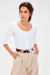 Women's Button Ecru Blouse