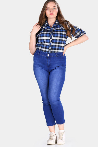 Women's Oversize Classic Jeans.