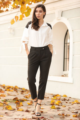 Women's Pocket Black Trousers - Fashion Under Arrest