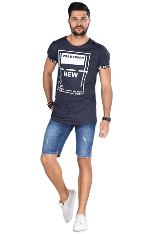 Men's Pocket Denim Shorts-1.