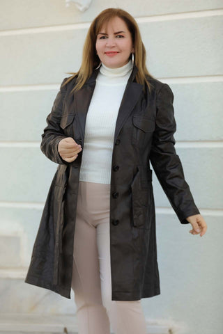 Women's Oversize Brown Waterproof Jacket - Fashion Under Arrest