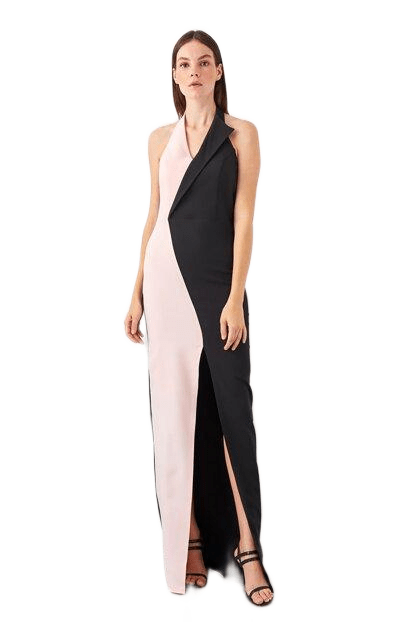 Women's Color Block Evening Dress - Fashion Under Arrest