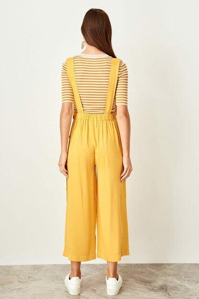 Women's Basic Mustard Jumpsuit