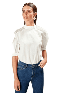 Women's Basic Ecru Blouse.