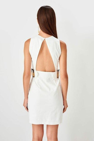 Women's Belted Ecru Dress - Fashion Under Arrest