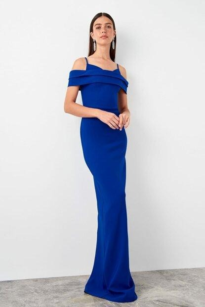 Women's Open Shoulders Saxe Evening Dress.