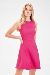 Women's Sleeveless Fuchsia Dress.