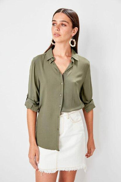 Women's Basic Khaki Shirt - Fashion Under Arrest