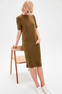 Women's Pocket Khaki Dress.