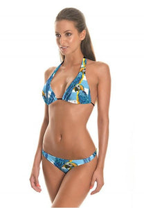Parrots Printing Two-Pieces Bikini Swimsuit