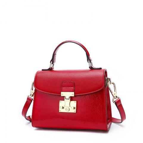 Women's PU Leather Solid Color Shoulder Bag Tote Bag.