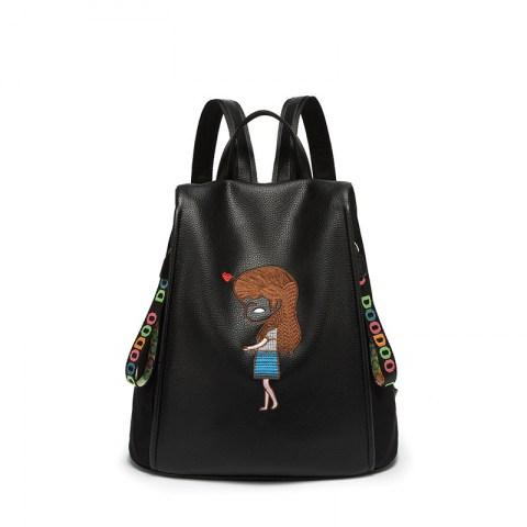 Women's Embroidered Backpack Bag Travel School Backpacks Bag - Fashion Under Arrest