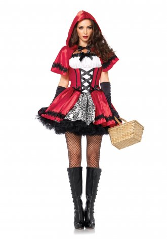 Women's Gothic Red Riding Hood Costume.